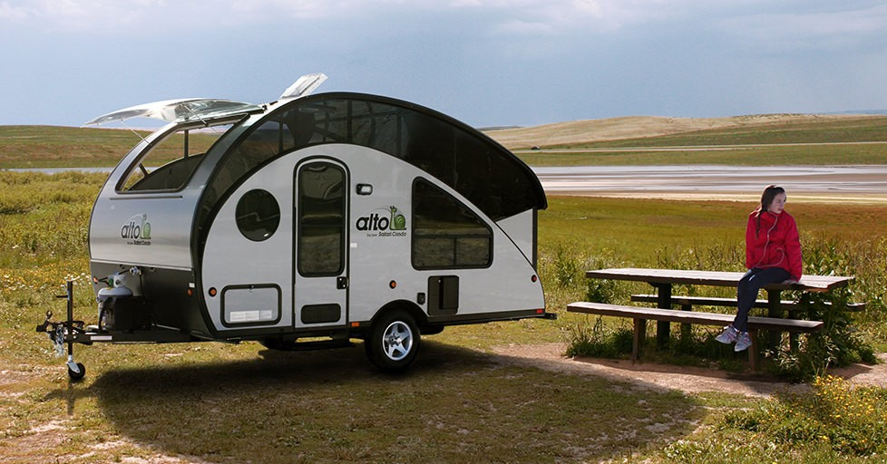 Teardrop Converts To Pop Up Camper With King Bed